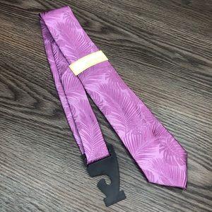 Michael Kors NWT Purple Hawaiian Silk Tie